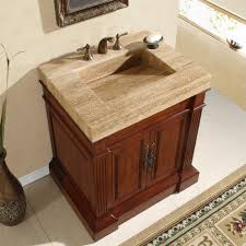 bathroom cabinets with sink on top 60 inch modern travertine stone