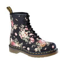 womens boots journeys dr martens 8 eye flower boot black flower journeys shoes