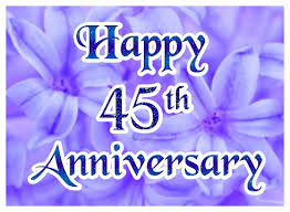 45th wedding anniversary happy 45th wedding anniversary greeting e card greetingshare