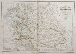 Map Of Germany And Austria by Map Of Germany And Austria 1843
