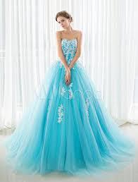 blue wedding dress blue wedding dress lace applique tulle court strapless