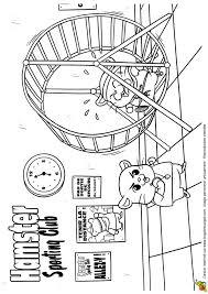 Coloriage hamster sportif sur Hugolescargotcom