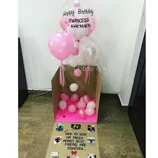 helium balloon delivery in selangor happy birthday balloon box in pink giftr malaysia s