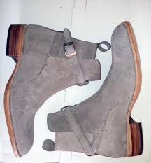 jodhpurs gray suede leather boots men ankle desert boots leather
