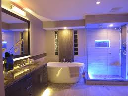bathroom light ideas ledlighting provides beautiful accents in this bathroom renovation