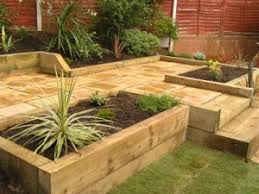 Gardens With Sleepers Ideas Idea Lanscaping Front Garden Design With Sleepers