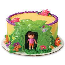 amazon com decopac dora the explorer jungle decoset cake topper