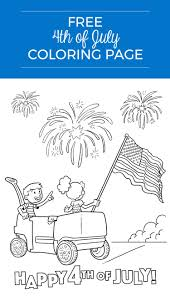 teaching kids about july 4th free coloring page