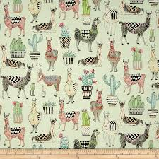 amazon com michael miller lovely llamas lovely llamas mint fabric