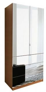 Armoire With Mirrored Front Mirrored Armoire Wardrobe Foter