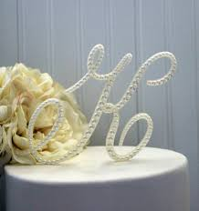 pearl monogram cake topper pearl monogram wedding cake topper decorated with pearls in any