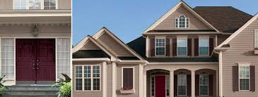 exterior house colors that home paint stucco go with brick red