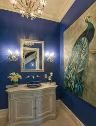 peacock bathroom ideas lovely wall in this powder room designs bathroom