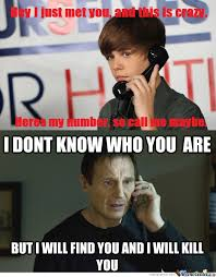 Funny Justin Bieber Memes - justin bieber taken by kofighter meme center