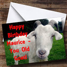 Cow Birthday Card Old Goat Funny Personalised Birthday Card The Card Zoo
