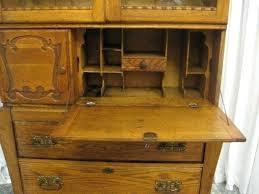 drop front secretary desk inch antique oak cowboy drop front desk bookcase top for drop