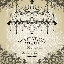 vintage wedding invitation with ornaments vector free