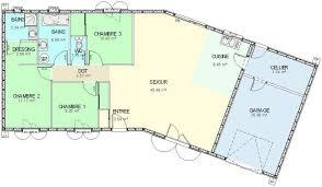plain pied 4 chambres plan maison bois plain pied 4 chambres idées décoration intérieure