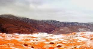 sahara snowfall everyone was stunned snow falls in sahara desert town for first