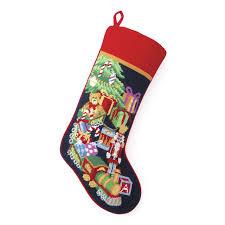 decorating decorative hand made needlepoint christmas stockings