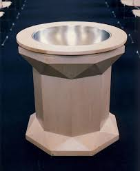 baptismal basin kramer architecture liturgical furniture