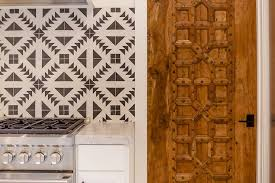 Mediterranean Tiles Kitchen - mediterranean kitchen pantry carved door mediterranean kitchen