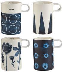 indigo tall mugs set of 4 magenta home decor and ceramics