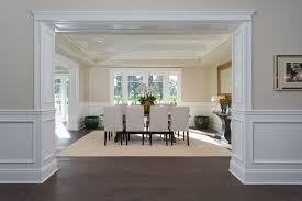 Traditional Dining Room With Hardwood Floors By Jackie Turner - Dining room with wainscoting