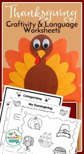 thanksgiving speech and language activities worksheets