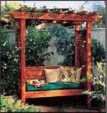 Swing Arbor Plans 32 Best Pergola Swing Images On Pinterest Pergola Swing Garden