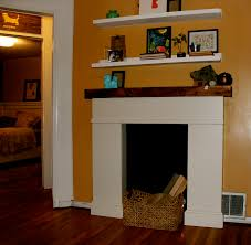 decorations white vintage faux fireplace frame with wall mounted