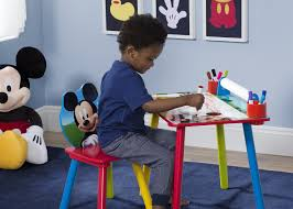 mickey mouse art desk with paper roll delta children u0027s products