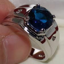 model cincin blue safir cincin pria eternal blue sapphire stainless steel solitaire