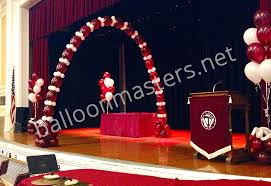Christmas Decoration For A Stage by Balloon Masters Balloon Stage Decorations In Buffalo