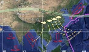 Monsoon Asia Map Preface For The Article Collection U201cland U2013ocean Linkages Under The
