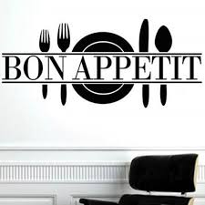 bon appetit kitchen collection bon appetit quote living room kitchen vinyl wall mural decal