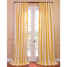 Yellow Stripe Curtains Overstock Cabana Yellow Printed Cotton Curtain Panel The
