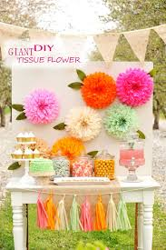 unique party diy giant tissue flower cheap unique holiday craft for kid party