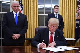 trump u0027s first executive order takes aim at obamacare new york post