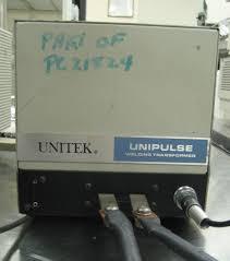 unitek miyachi 1 124 05 parallel gap welder with 2 152 02 weld