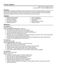 Fleet Manager Resume Retail Manager Resume Templates