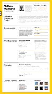 Best Looking Resumes by The Best Resume Templates George Tucker Resume