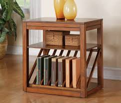Round Revolving Bookcase Bookshelf End Table Custom Wood End Table Bedside Table With A