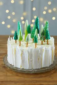 how to make an ice forest christmas cake cake baking cake and