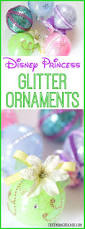 these diy disney princess glitter ornaments are perfect for the