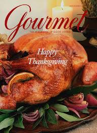 gourmet cover featuring a thanksgiving turkey by miki duisterhof