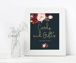 wedding gift table sign navy and gold wedding sign cards and gifts sign printable
