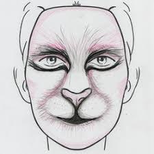 red panda makeup sketch 1 u2014 weasyl