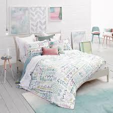 lola duvet cover watercolour bedding bluebellgray
