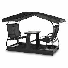 3 seat reclining swing black rona